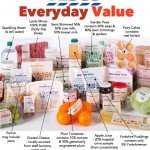Tesco Everyday Value.   What is probably in this food?