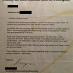 Is this the funniest reference letter ever?