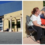 2 women arrive 22 days before Black Friday sale at Best Buy