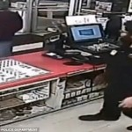 Shocking footage reveals robber dousing store clerk in lighter fluid and threatening to set him on fire unless he hands over cash