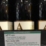 Man Adds Hilarious Reviews and Pairing Recommendations for Wine at His Local Liquor Store